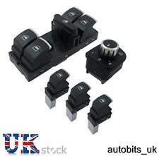 5 Pcs Of Chrome Window Mirror Switch Control Set For VW Passat Golf MK5 6 Jetta