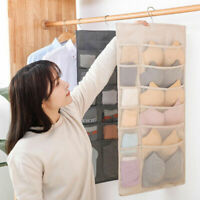 30 Pockets Underwear Organizer Mesh Hanging Storage Bag Bra Sock Wardrobe Hanger