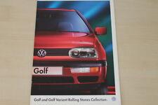 184170) VW Golf III + Variant - Rolling Stones - Prospekt 07/1995