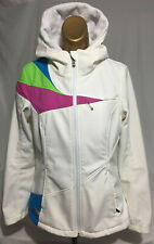 Spyder Womens Medium Jacket Fleece Hooded Full Zip Multi Color