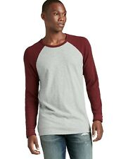 Lucky Brand - Mens XL - NWT$59- Red/Gray Baseball Crew Cotton Thermal T-Shirt