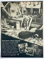 TOM WAITS 1976 vintage POSTER ADVERT SMALL CHANGE Asylum Records