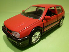 MADE IN CHINA SS7713 VW VOLKSWAGEN GOLF GT - RED 1:24  - RARE SELTEN - VERY GOOD