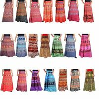 5 PC Lot Indian Long Skirt Cotton Bohemian Flamenco Gypsy Hippie Skirt