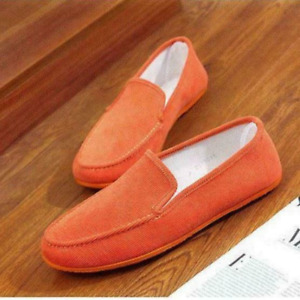 Mens Casual Canvas Linen Slip On Loafers Flats Driving Mocassin Shoes Workwear
