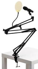DYNAMIC MICROPHONE USB VOCAL MIC PODCAST GOLDEN POP FILTER TABLE BOOM STAND SET