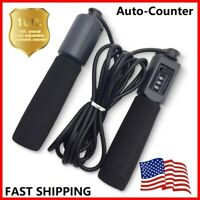 Auto-Counter Adjustable Jump Rope Skipping Aerobic Speed Exercise Fitness Gym
