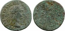 Trajan, as, Rome, Victoire et SPQR, patine - 80