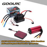 GoolRC 1/8 RC Car S3674 2650KV Brushless Motor+120A ESC+Program Card Combo Set