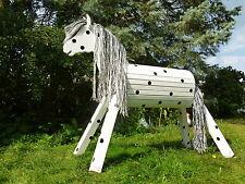 110cm Holzpferd Holzpony Onkel Voltigierpferd Pferd wetterfest lasiert NEU