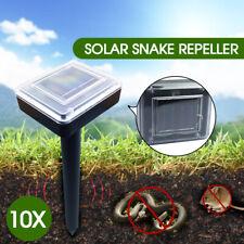 10x Snake Repeller Solar Powered Ultrasonic Mole Mice Pest Rodent Rat Repellent