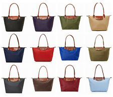 NWT Longchamp Le Pliage Medium Small Long Handle Nylon Tote 2605089 Multi Colors