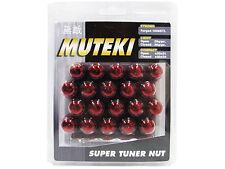 MUTEKI 20PCS WHEELS TUNER LUG NUTS (41885R/CLOSED END/12X1.25/RED)