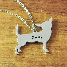 Personalized Chihuahua necklace, Alloy dog necklace, Custom name dog jewelry