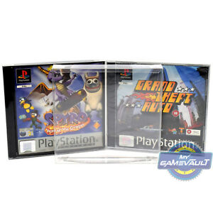 PS1 Game Box Protectors x 10 SUPER STRONG 0.5mm PET Display Case for Playstation