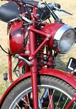 Classic Red James Motorcycle.Photographic Birthday Card. Blank Card.