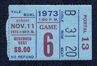New York Giants vs Dallas Cowboys Nov 11, 1973 YALE BOWL Ticket Stub
