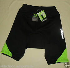 MUDDYFOX / MENS black+green padded Cycling (bike) Shorts / Pants. BNWT! Size: S