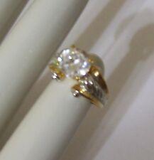 Lovely PREMIER DESIGNS Gold Tone Ring w/ Huge CZ