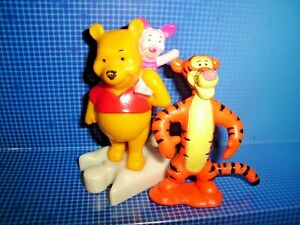 RARE WINNIE THE POOH Action-FIGURE LOT DISNEY PIGLET + TIGGER COLLECTIBLE TOYS