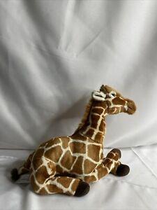 "Fao Schwarz Giraffe 12"" Tall Zoo Relaxed Plush Soft Toy Stuffed Animal"