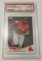 2013 TOPPS #382 JACKIE BRADLEY JR. RC ROOKIE BOSTON RED SOX GEM MINT PSA 10 💰💰