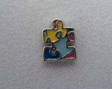 Autism Puzzle Floating Charm for Glass Living Memory Lockets Newest 2014 Charms