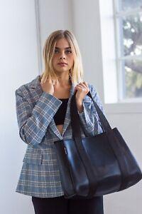 Shiny Black Neoprene Stylish Versatile Womens Handbag Nappy Everyday Bag