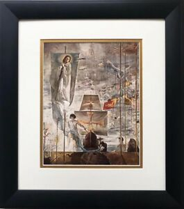 "Salvador Dali ""Discovery of America by Columbus"" FRAMED ART  Explorer Surreal"