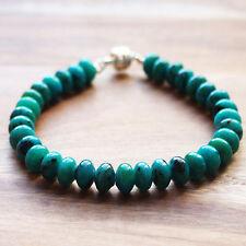 Semi-Precious Mixed Semi-Precious Green Chrysocolla Abacus Stone Bracelet