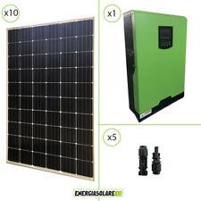 Kit solare fotovoltaico 3KW 48V monocristallino inverter ibrido 5KW PWM 50A