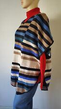 Woman Within Knit Pocho Stripes Acrylic Plus Fits 14W-24W Washable