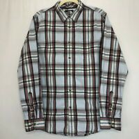 The North Face Blue Red & Gray Plaid Button Shirt Men's Size Medium