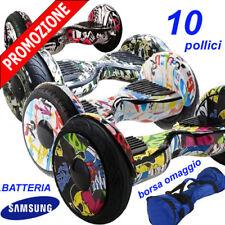 "HOVERBOARD 10"" POLLICI LED E BLUETOOTH SMART BALANCE OVERBOARD BATTERIA SAMSUNG"