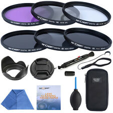 58mm Slim Lens Filter UV CPL FLD ND Lens Hood For Canon EOS 450D 500D 600D 1100D