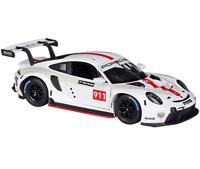 Bburago 1:24 Porsche 911 RSR Diecast Model Racing Car Vehicle NEW IN BOX White
