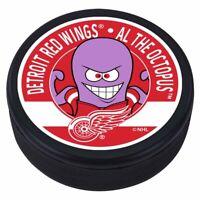 Detroit Red Wings Al the Octopus 3D Textured NHL Mascot Souvenir Hockey Puck