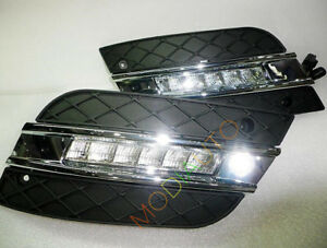 White Led Daytime Running Light DRL 2X For Mercedes-Benz W164 ML350 2009-2011