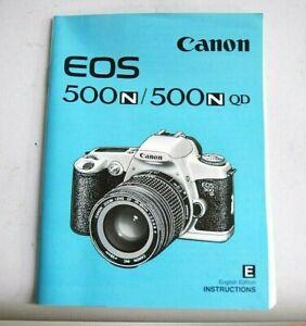 Canon EOS 500n / 500n QD film camera.... instruction manual