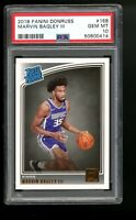 2018 Panini Donruss #168 Marvin Bagley III Kings Rated Rookie RC PSA 10 Gem Mint