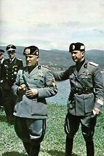 WW2 - Mussolini et des officiers allemands en Italie