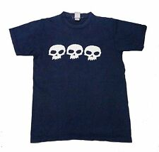 VINTAGE 90s ZERO SKATEBOARDS T SHIRT ZERO OR DIE SIZE SMALL BLUE FADED