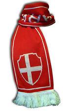 Official Denmark Danmark soccer football knitted supporter fan scarf ultras