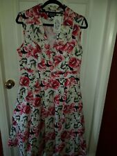 Hearts And Roses Rockabilly Dress Bnwt Sz 18