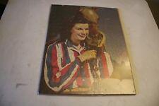 Vintage Completed Puzzle Women W/ Horse Dale Evans? Art Piece