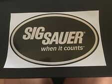 Original SIG Sauer pegatinas when it cuentas sticker sportschiessen proteger Sport