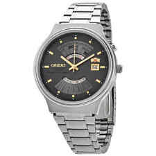 Orient Multi Year Calendar Perpetual World Time Automatic Grey Dial Men's Watch
