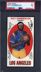 1969 Topps #1 Wlit Chamberlain Lakers PSA 7