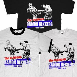 New RIP Ramon Diamond Dekkers MMA Muay Thai Boxing Fighter Champion T-shirt