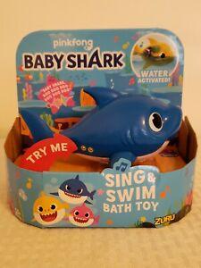 Robo Alive Junior Baby Shark Battery-Powered Sing and Swim Bath Toy by ZURU -...